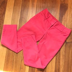 The Limited drew fit pants red orange size 0